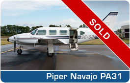 Piper Navajo PA31 - SE-GIN